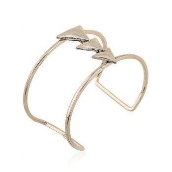 Two Layered Triangle Cuff Bracelet - SILVER