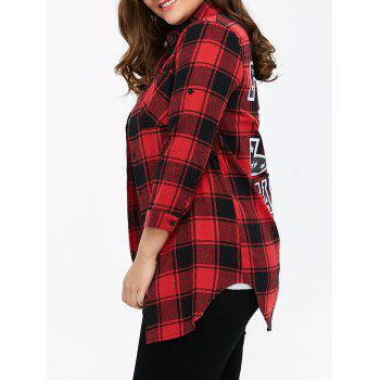 Plaid Graphic Plus Size Shirt