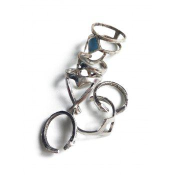 Hollow Rhombus Ethnic Style Rings - SILVER