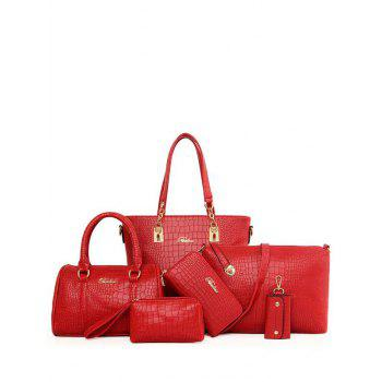Elegant Letter and Crocodile Print Design Shoulder Bag For Women