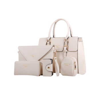 Elegant Letter Print and Double Buckles Design Tote Bag For Women