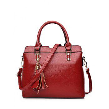 Elegant Pendant and Solid Color Design Tote Bag For Women
