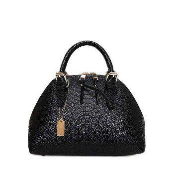 Elegant Crocodile Print and Buckles Design Tote Bag For Women