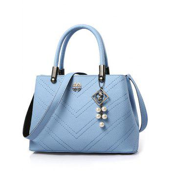 Elegant Stitching and Pendant Design Tote Bag For Women