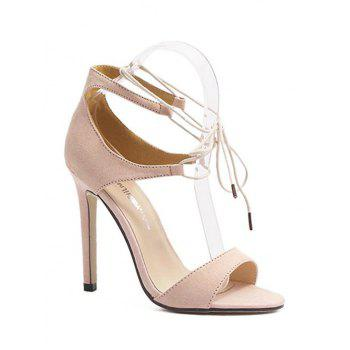 Concise Lace-Up and Stiletto Heel Design Sandals For Women