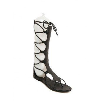 Trendy High Top and Flat Heel Design Sandals For Women