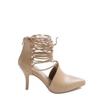 Fashionable Stiletto Heel and Lace-Up Design Pumps For Women