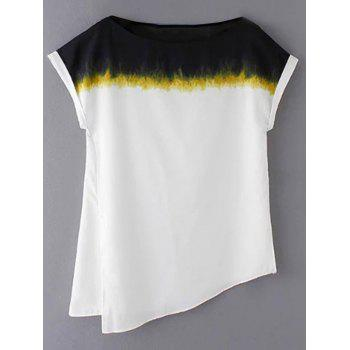 Stylish Round Neck Short Sleeve Loose Side Slit Women's T-Shirt