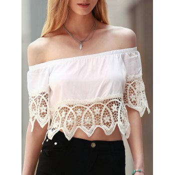 Off The Shoulder Cut Out Women's Crop Top