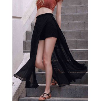 Trendy Pleated Chiffon Women's Long Skirt