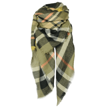 Stylish Tartan Pattern Shawl Scarf