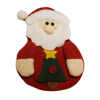 Christmas Santa Claus Knives Forks Cover Bag Table Decoration - RED