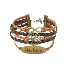 Infinity Tree of Life Letter Layered Bracelet