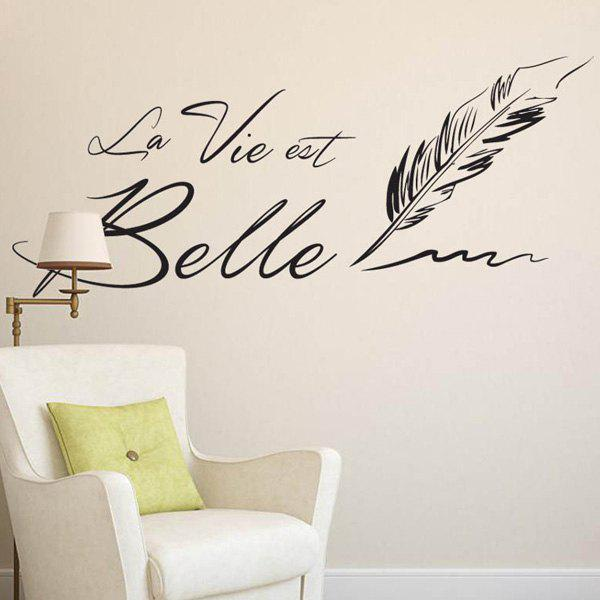 Removable Letter Quote Wall Stickers