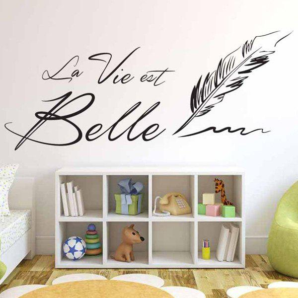 2018 stickers muraux amovible lettre citation gris fonc cm in stickers muraux online store. Black Bedroom Furniture Sets. Home Design Ideas