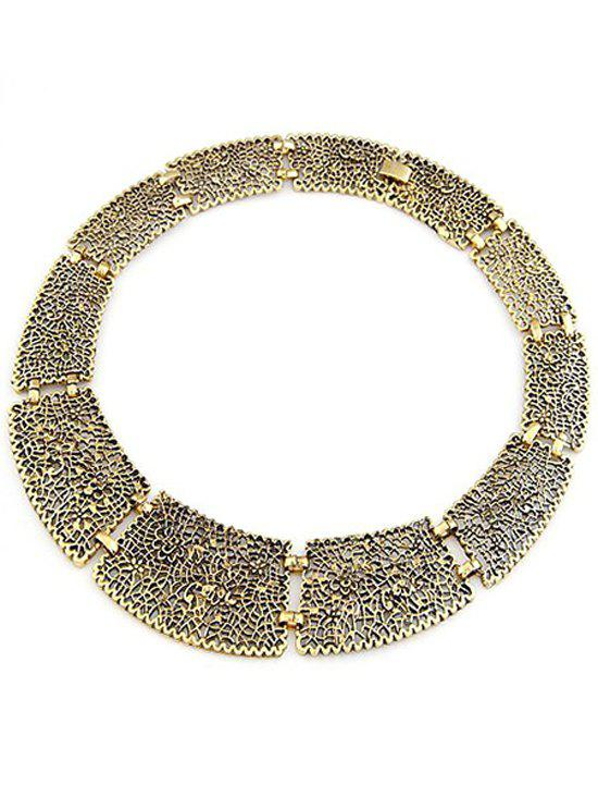 Gothic Style Hollow Out Chokers Necklace - GOLDEN