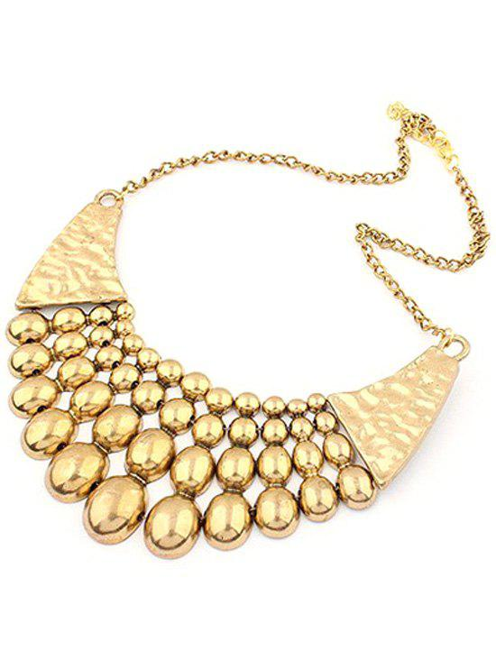 Bead Pendant Multilayered Clavicle Necklace - GOLDEN