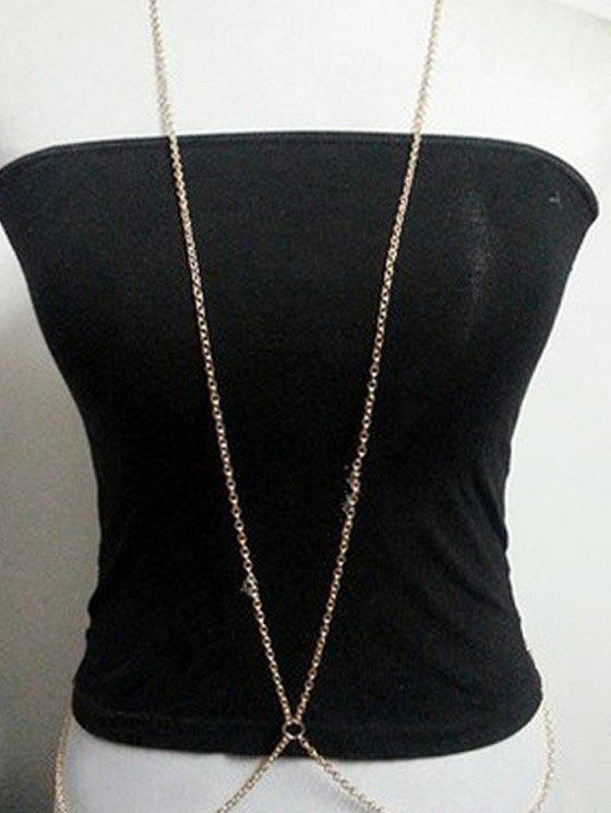 Chic Simple Style X Shape Body Chain For Women - GOLDEN