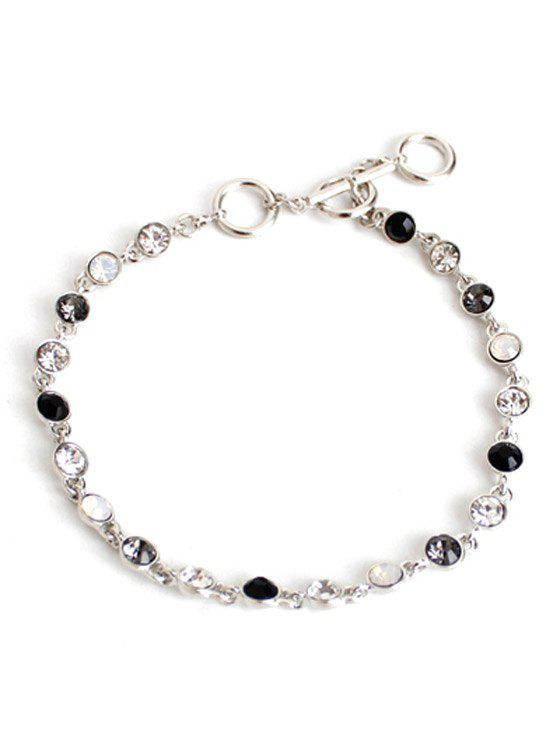 Chic Rhinestone Decorated Anklet For Women - SILVER