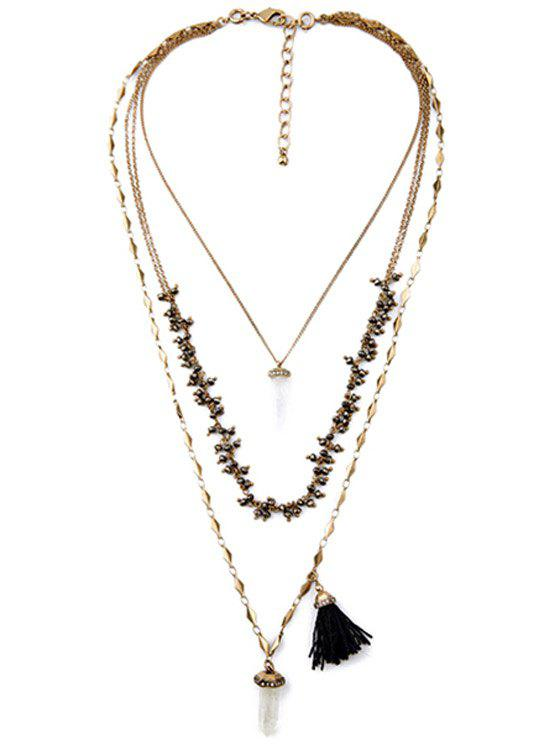 Vintage Multilayered Long Style Necklace - COPPER COLOR
