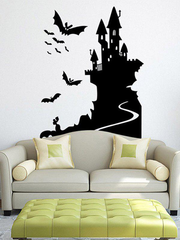 Removable Happy Halloween Bats Castle Room Wall Sticker ghost tree design removable room halloween wall sticker