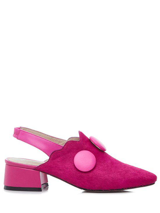 Trendy Button and Slingback Design Pumps For Women - ROSE 38
