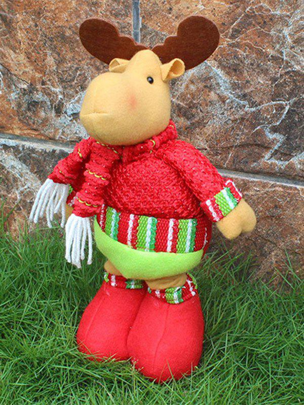Novelty Children Gift Christmas Deer Claus Puppet Toy - RED/GREEN