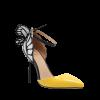 Trendy Butterfly and Ankle Strap Design Pumps For Women - YELLOW 39