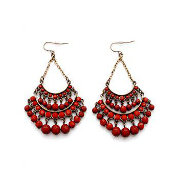 Pair of Multilayered Faux Gem Earrings