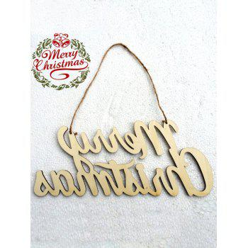Merry Christmas Letter Wooden Hangers Party Decoration -  WOOD