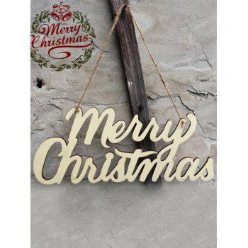 Merry Christmas Letter Wooden Hangers Party Decoration - WOOD WOOD