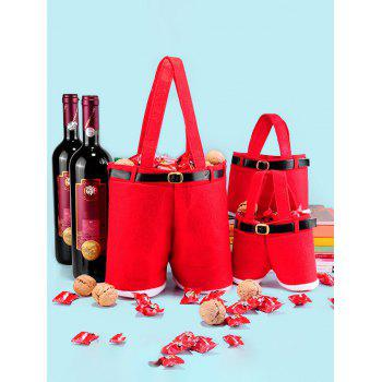 Red Wine Bag Christmas Candy Gift Bag - RED