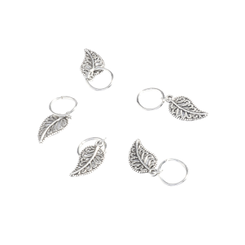 5 PCS Leaves Hair Accessory -  SILVER