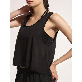 Sporty Women's U Neck Backless Tank Top - L L