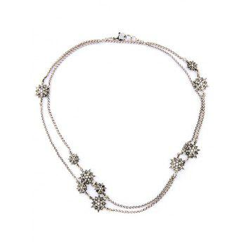 Vintage Alloy Star Necklace
