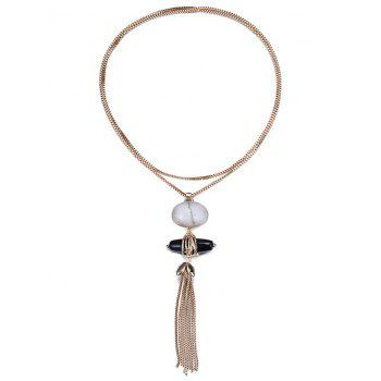 Trendy Natural Stone Sweater Chain For Women