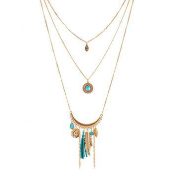 Rhinestone Decorated Multilayered Necklace