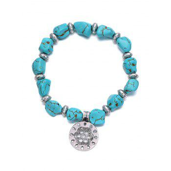Stylish Turquoise Elastic Bracelet For Women