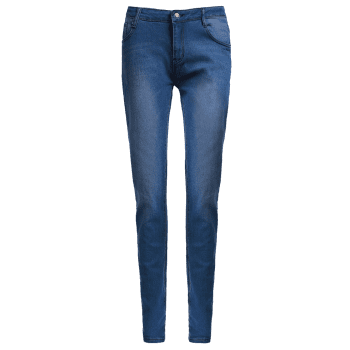 Women's High-Waisted Skinny Pencil Jeans - BLUE XL