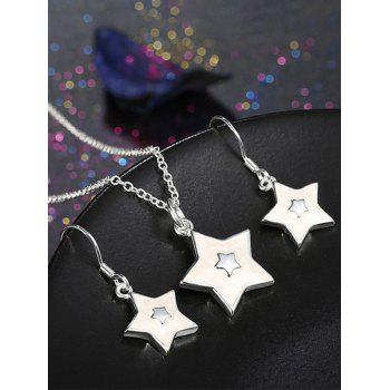 Christmas Star Polished Jewelry Set