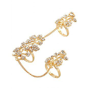 Rhinestone Leaf Shape Ring