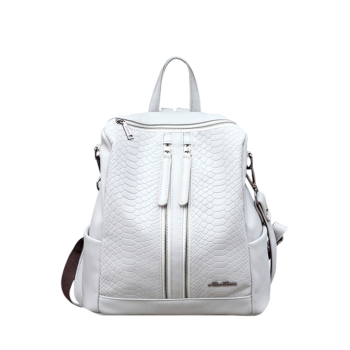 Multi Zips Snake Embossing Backpack