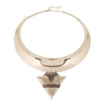 Triangle Chunky Torque Necklace