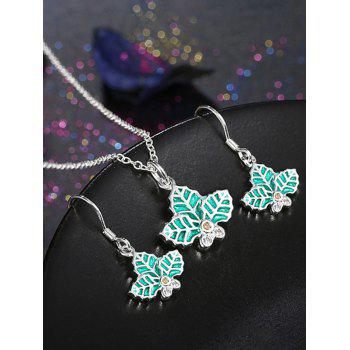 Leaf Polished Christmas Jewelry Set