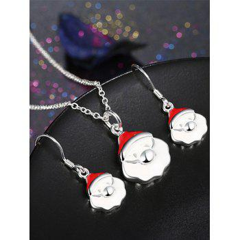 Christmas Santa Claus Polished Jewelry Set