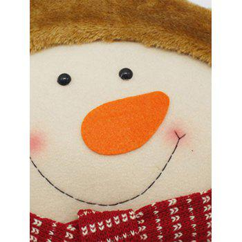 Christmas Snowman Star Pillow Cushion - WHITE