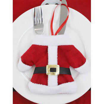 Christmas Santa Clothes Knives and Forks Bag - RED RED