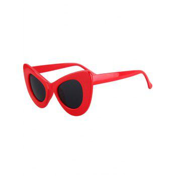 Fashion Solid Color Butterfly Shape Sunglasses For Women - RED RED