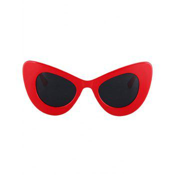 Fashion Solid Color Butterfly Shape Sunglasses For Women -  RED
