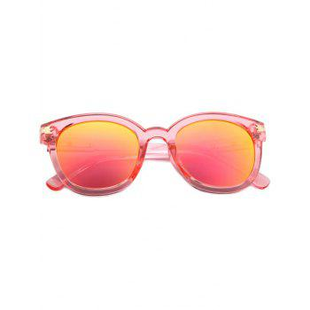Fashion Metal Inlay Transparent Sunglasses For Women -  PINK